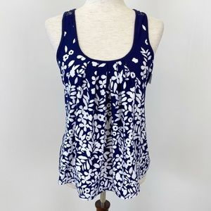 In Bloom by Jonquil Small Shirt Tank Top Navy Blue